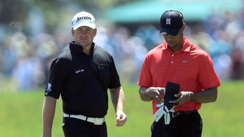 Graeme McDowell and Tiger Woods will play together at the Open