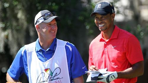 Tiger Woods with his caddie Joe LaCava