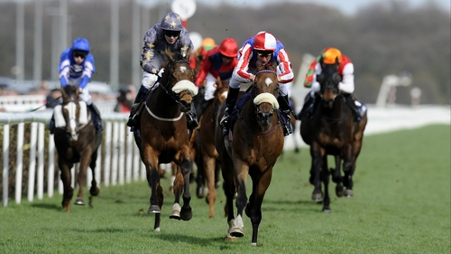 Last year's winner, Sweet Lightning (quartered cap) has been taken out of Saturday's Lincoln