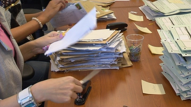 It could take several days, or even weeks, to process the backlog of postal registrations