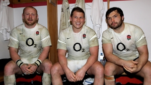 Dylan Hartley (centre) is at risk of missing England's tour of South Africa
