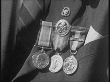 Medals worn by an Irish veteran of the First World War from the documentary, 'And in the Morning'.
