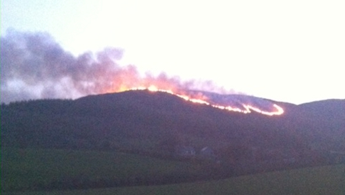 The gorse fires have been under way since early Wednesday afternoon