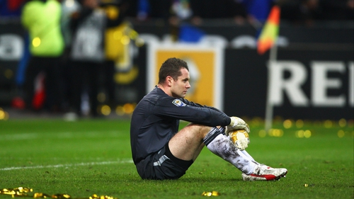 Shay Given after the Republic of Ireland's exit at the hands of Thierry Henry