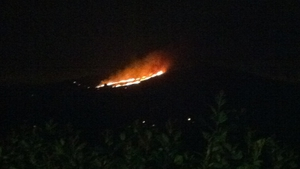 It is understood the gorse fire may be threatening a number of houses in the area