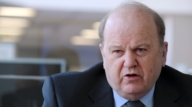 Michael Noonan said access to ESM emergency funds is dependent on Ireland voting Yes
