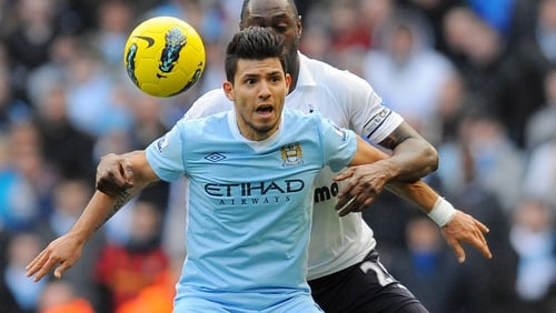 Sergio Aguero could return to play against Arsenal on Sunday