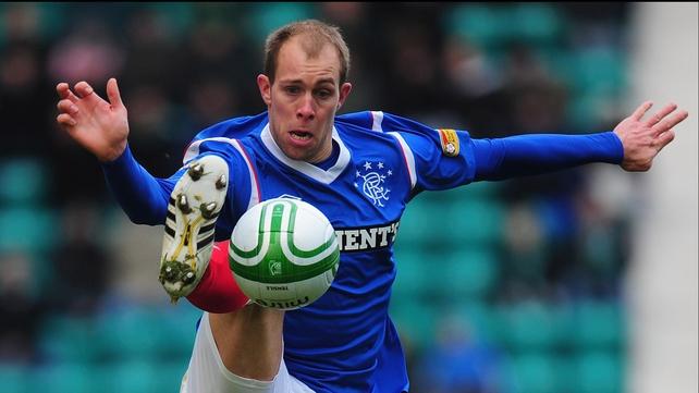 Steven Whittaker scored Rangers' equaliser against Motherwell