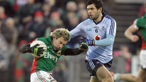 Conor Mortimer became Mayo's all-time leading points-scorer in a man-of-the-match performance against Dublin in the replayed Allianz Football League match at McHale Park