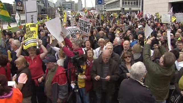 Thousands of people protested against the Household Charge today