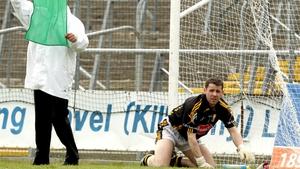 Kilkenny goalkeeper JJ O'Sullivan looks on after conceding a third goal against London