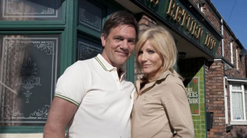 Karl (John Michie) and Stella (Michelle Collins) - Will there be a wedding - or a family funeral?