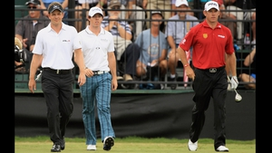 Luke Donald (l) currently holds top spot in the world rankings but who will occupy it at the end of the week?