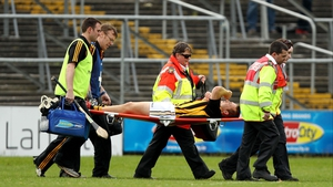 Richie Hogan being stretchered with what, it has transpired, was a collapsed lung