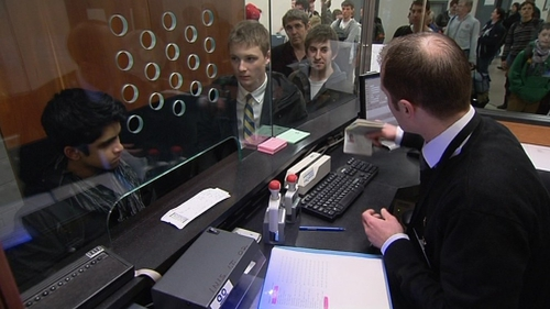 Department of Justice staff have begun checking passports at Dublin Airport