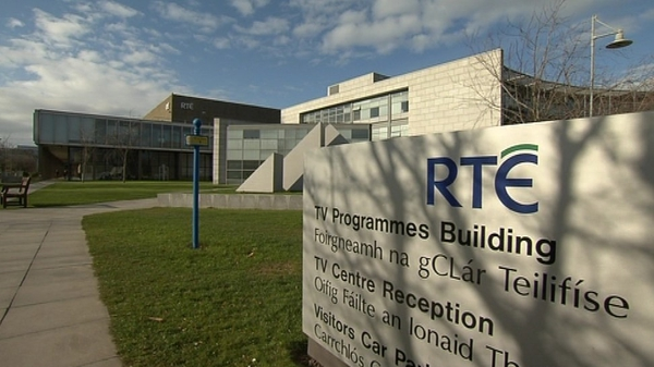 Pat Rabbitte said he is concerned by the decline in commercial revenue reaching RTÉ