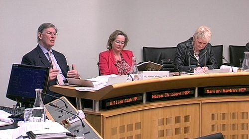 Willam Cash (left) appeared at the Oireachtas Sub-Committee today