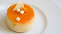 Orange and Almond Cake with Orange-Lime curd - A delicious light and zingy cake topped with a curd of citrus fruits.
