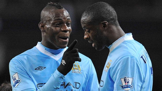 Mario Balotelli and Yaya Toure - Toure insists there has been no major bust-up