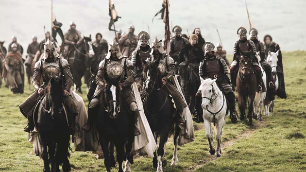 Can you spot Ross and Rachel in this Game of Thrones crowd scene?