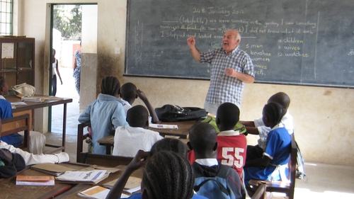 Ciaran Black at St Peter's School, The Gambia