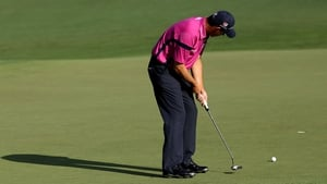 Padraig Harrington hit an early eagle during his opening round and finished the day on one under