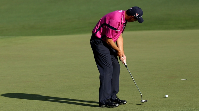 An early eagle set the tone for Harrington's eighth place finish at Augusta