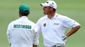 Lee Westwood led on five under at the end of the opening day at Augusta