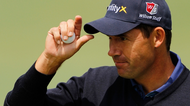 Padraig Harrington played a very steady round to sit on level par going into the weekend