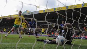 Jonny Hewson fired home Norwich's first-half equaliser