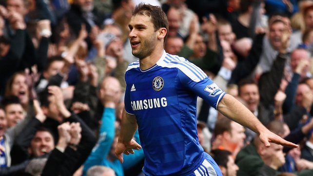 Branislav Ivanovic put Chelsea ahead with a goal from an offside position