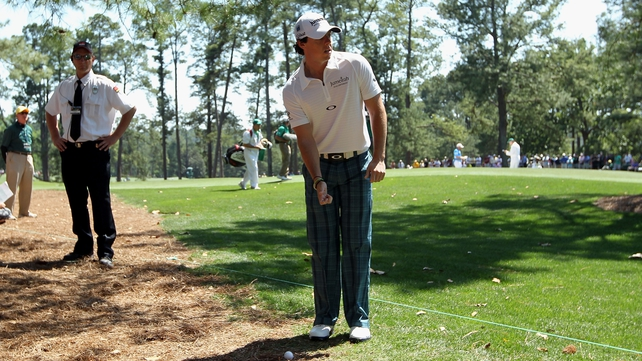 Rory McIlroy clocked up another double bogey on the opening hole at Augusta