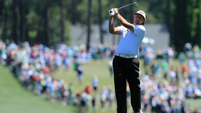 Phil Mickelson has moved to the fore at the BMW Championship