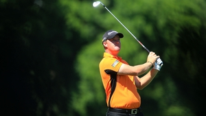 Peter Hanson played the round of the day on Saturday to take the lead into the final day of The Masters