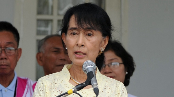 Aung San Suu Kyi was awarded the freedom of Dublin in 2000