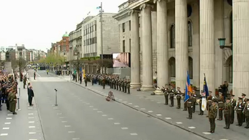 Ceremony outside GPO in Dublin