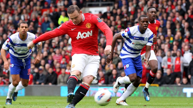 Wayne Rooney slotted home the contentious penalty for the Old Trafford side
