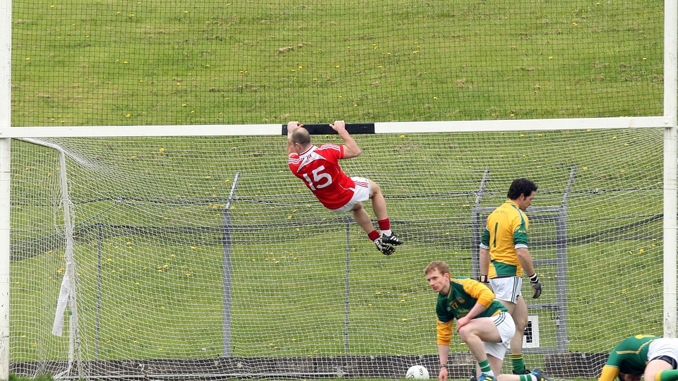 Louth's Darren Clarke is 'hanging around' after the Wee county scored their second goal against Meath in a game that saw the Royal county slip down to Division 3