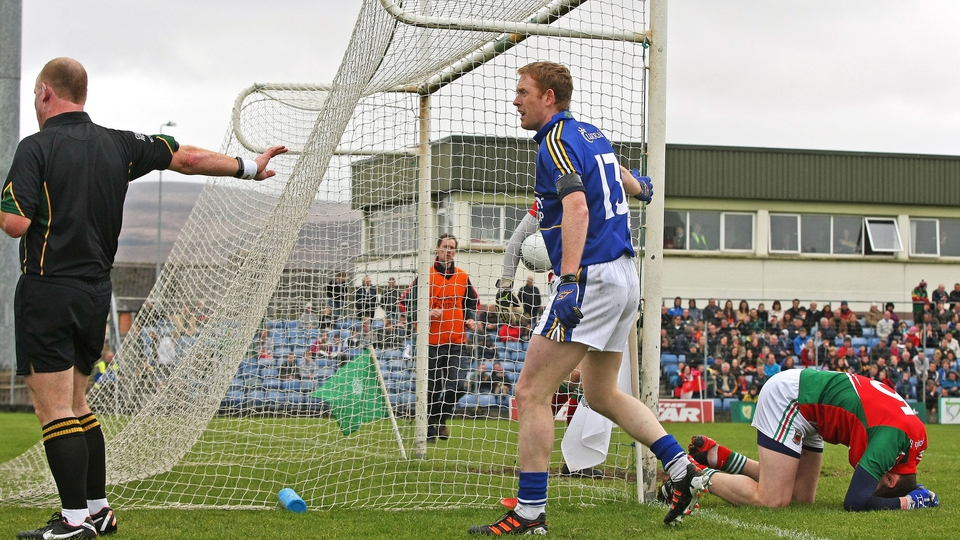 Colm Cooper shows his disgust after he had a goal disallowed in the clash with Mayo. The match finished in a draw