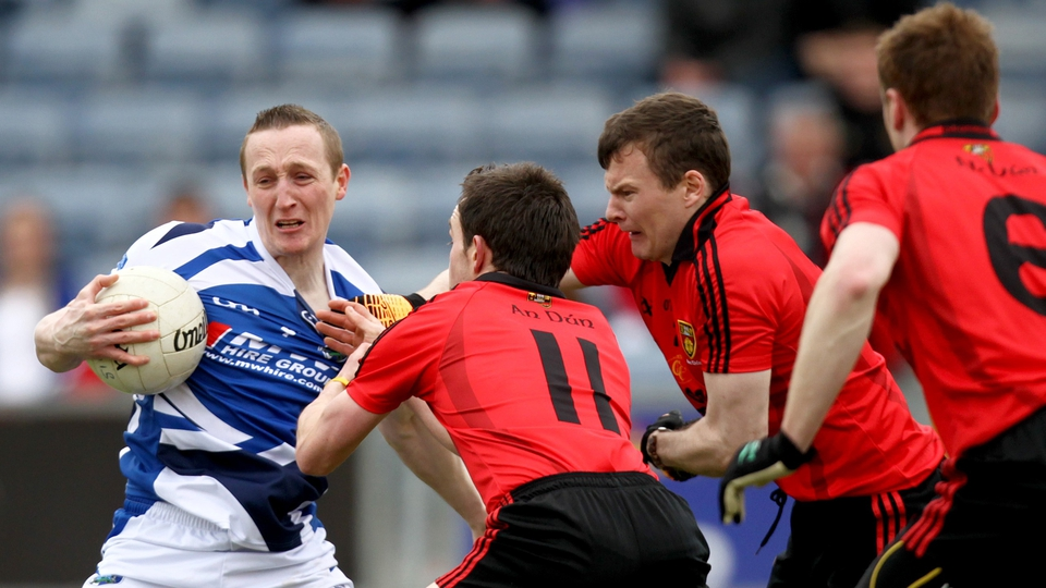 Down players show their determination as they saw off Laois to claim a league semi-final spot with Cork