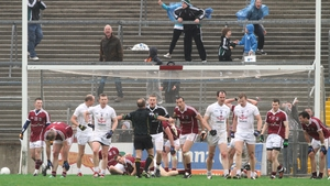 Referee Eddie Kinsella awards a late penalty to Kildare that salvaged a draw for the Lilywhites against Galway