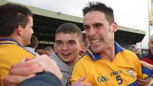 Brendan Bugler shows his delight as Clare hurling returns to the top flight