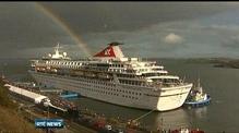 Titanic memorial cruise arrives in Cobh