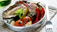 Roasted vegetable salad - This roasted vegetable salad is fab on its own, or served as part of a barbecue.