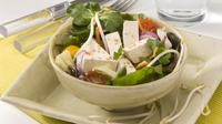 Tofu, Mango and Sesame Salad - A tasty vegetarian salad.