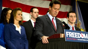 Rick Santorum made the announcement in his home state of Pennsylvania