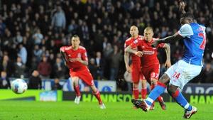 Yakubu scored for Blackburn from the spot after having an earlier penalty saved
