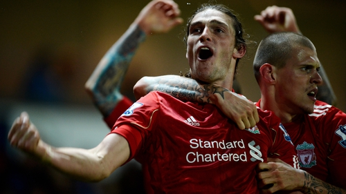 Andy Carroll celebrates his injury-time winner