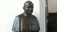 The bust of Poland's pope, John Paul II