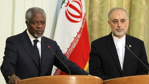 Kofi Annan said he had received a written pledge from the Syrian government